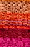 Bright red and orange crochet stitch background