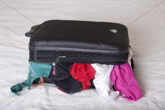 A full suitcase