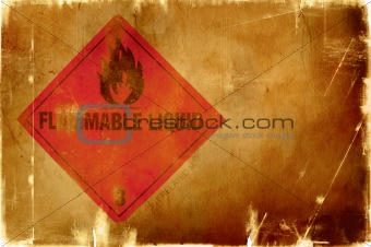 flammable liquid sign(warm background)
