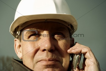 architect with cell-phone