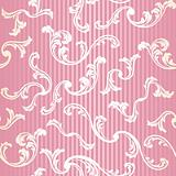 Pink seamless elegant floral background