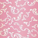 Pink seamless elegant floral background