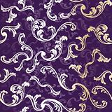 Purple seamless elegant floral background