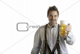 Bavarian Man with Oktoberfest Beer Stein (Mass)