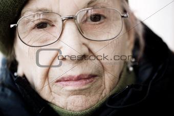 senior on the street