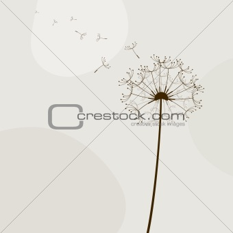 Abstract illustration with flowers. Vector art