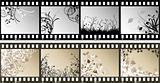Floral film strips