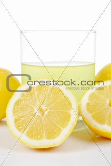 Glass of fresh lemon juice