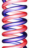 red and blue spirals