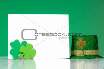St. Patrick's Day Note blank notecard