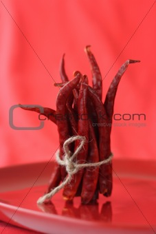 bunch of red hot chilli pepper