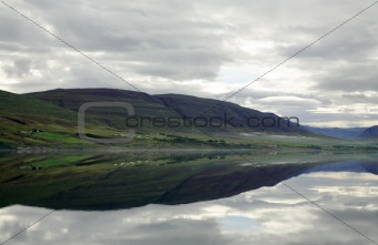 Mirror reflection in the lake