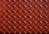 Red painted non-slip steel chequer plate