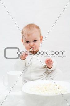 little babie's breakfast