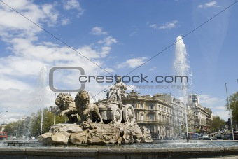 Cibeles fountain from different angles 30 degrees