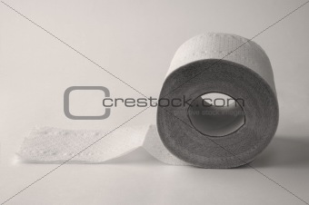 toilet paper on the black background