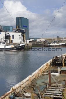 Old trawler in dock