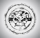 Grunge style Halloween Skull