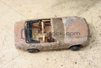 Old rusty toy car