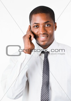 Afro-American businessman