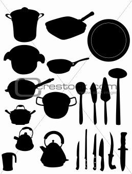 Kitchen utensil silhouette