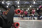 Roller derby skater fall