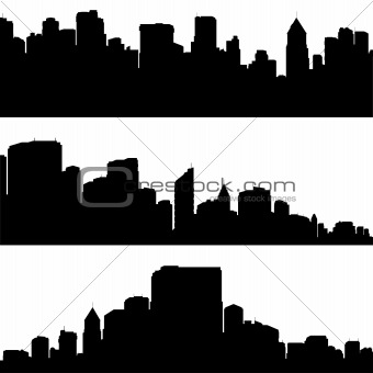 City silhouettes