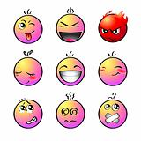 Rainbow smileys   Set 1