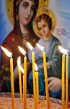 Candles in a Christian Orthodox church