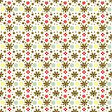 Retro flower pattern background in earth tones
