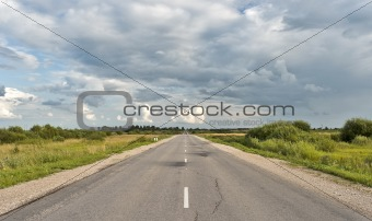 Countryside asphalt road