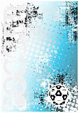 soccer poster blue background 1