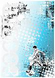 soccer poster blue background 2
