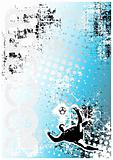 soccer poster blue background 3