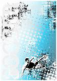 soccer poster blue background 4