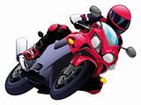 Vector motorbike