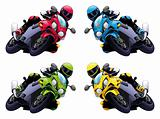 Set of Vector motorbikes