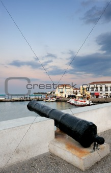Old cannon on the island of Spetses