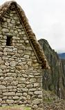 Guard house in Machu Picchu Peru