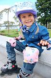happy little rollerblader