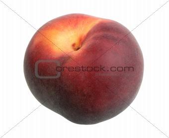 Single dark-red peach.