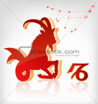 capricorn zodiac astrology icon for horoscope