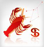 crawfish zodiac astrology icon for horoscope