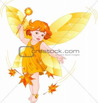 Autumn baby fairy