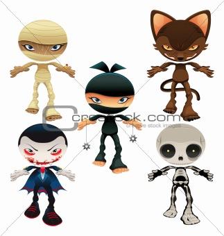 Halloween horror characters