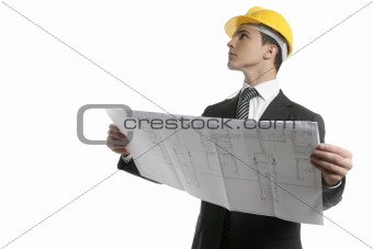 Architect executive business people with plans