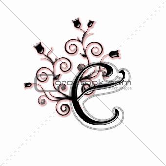 Capital letter E