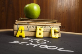 Apple on a blackboard
