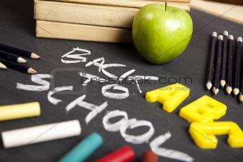 Apple on a blackboard