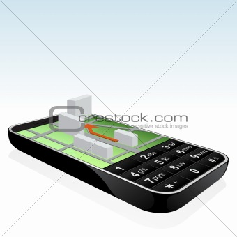 Mobile phone navigator icon